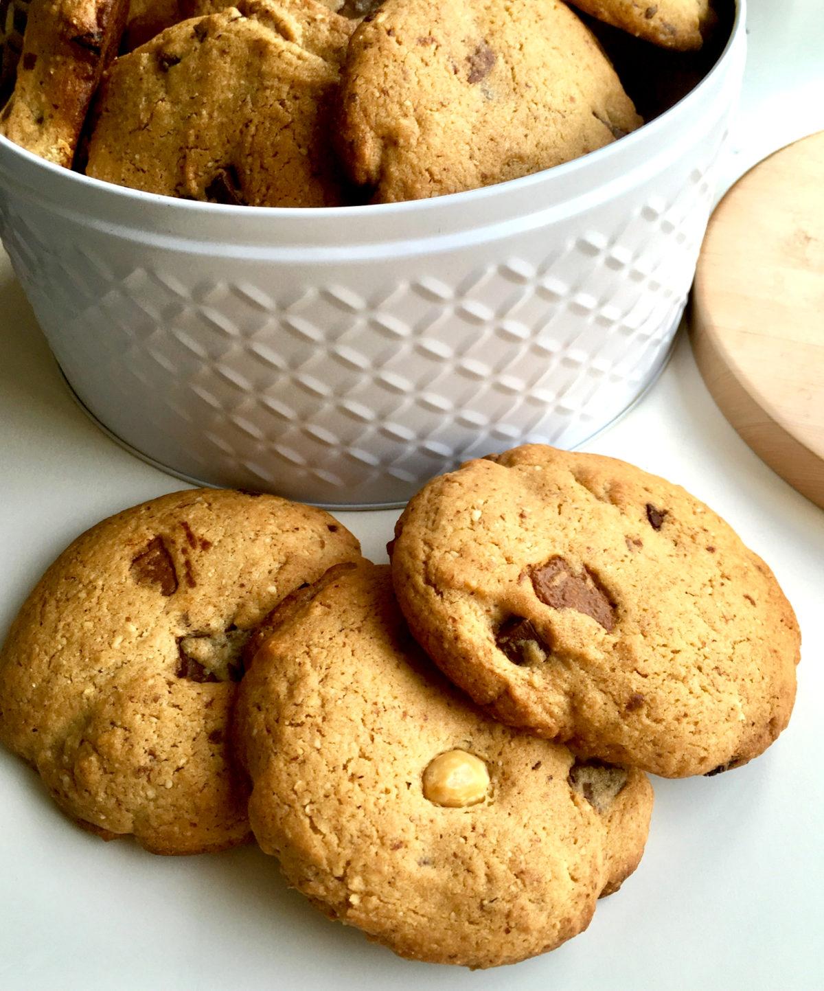 Original amerikanische Cookies mit Schokostückchen