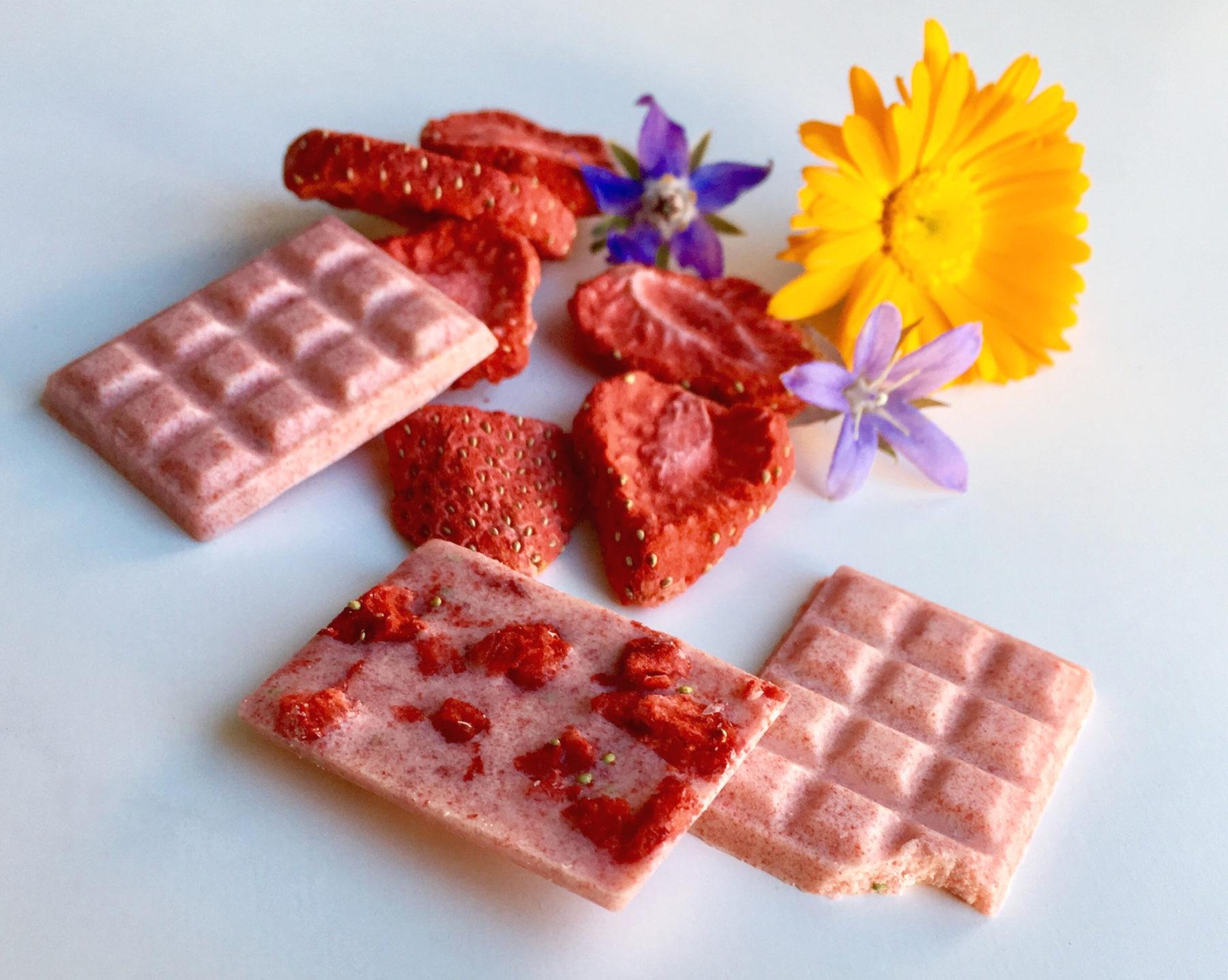 Erdbeerschokolade selber machen