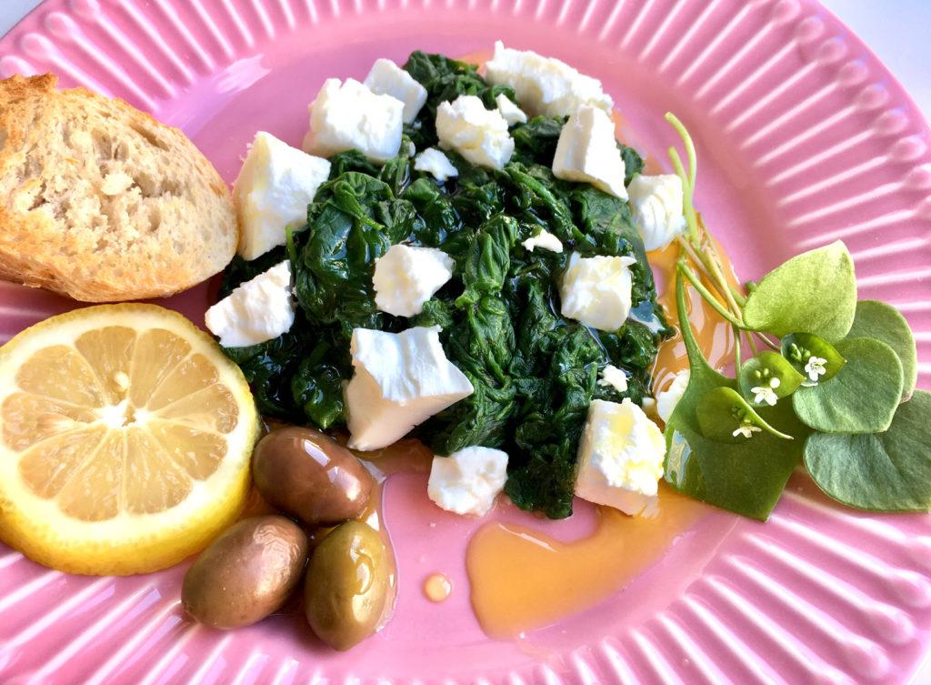 Winterportulak mit Oliven