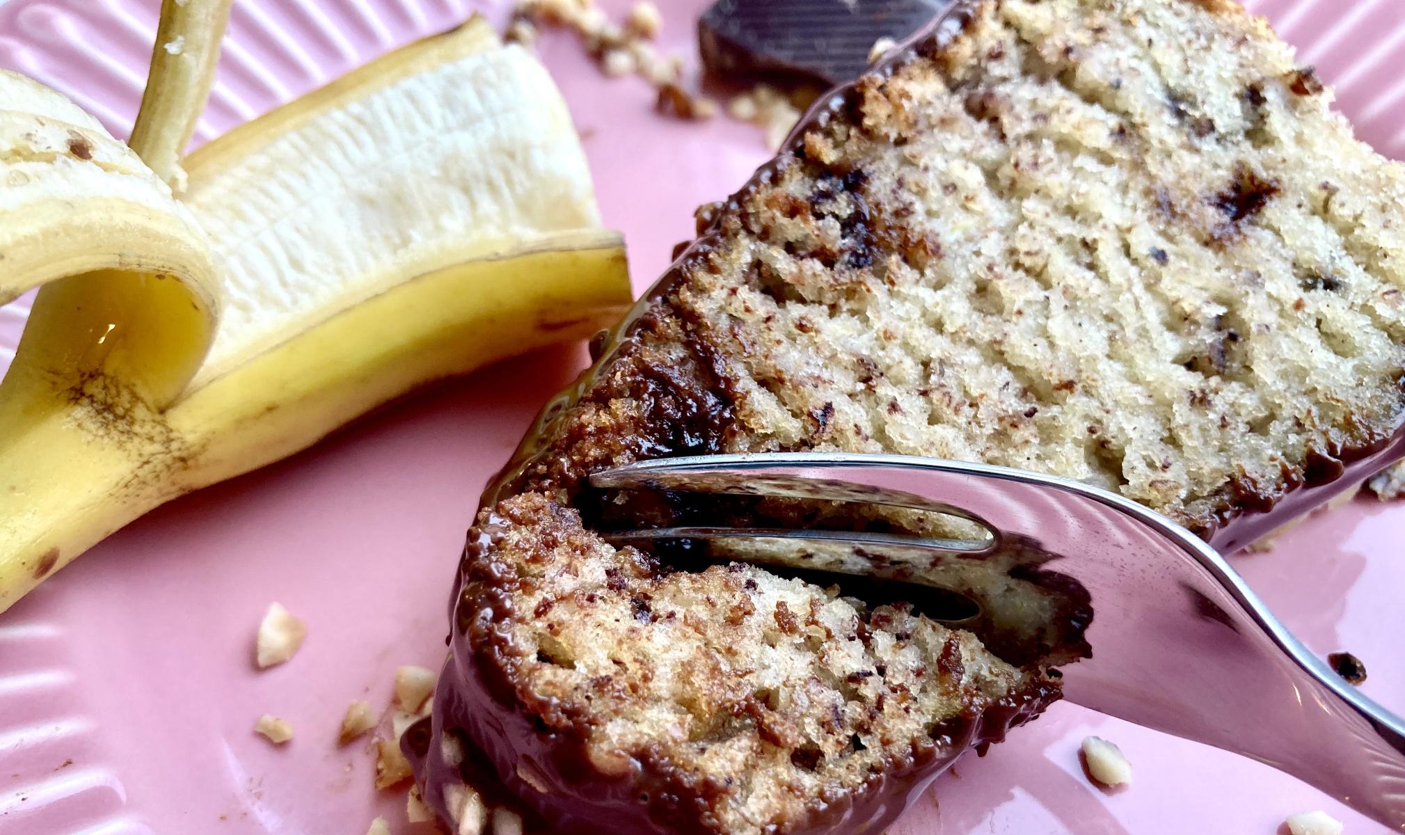 Bananenkuchen-Stück