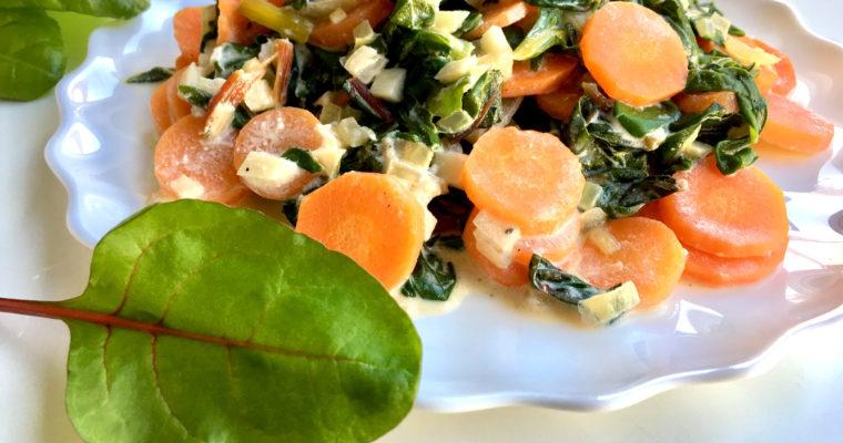 Mangoldgemüse – leckeres Rezept mit Karotten
