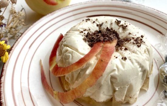Dessert ohne Zucker – Mascarpone Terrine mit Bratapfelgelee