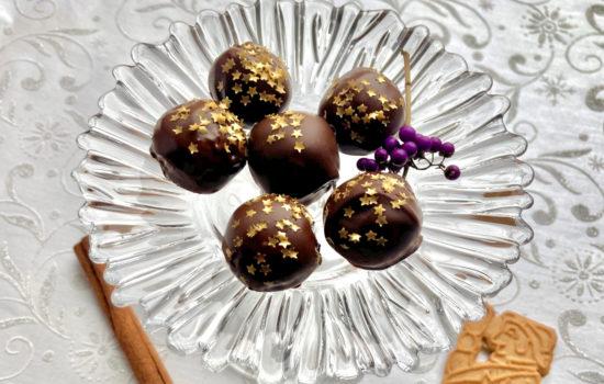 Spekulatiuskugeln – Spekulatius Pralinen mit Schokolade