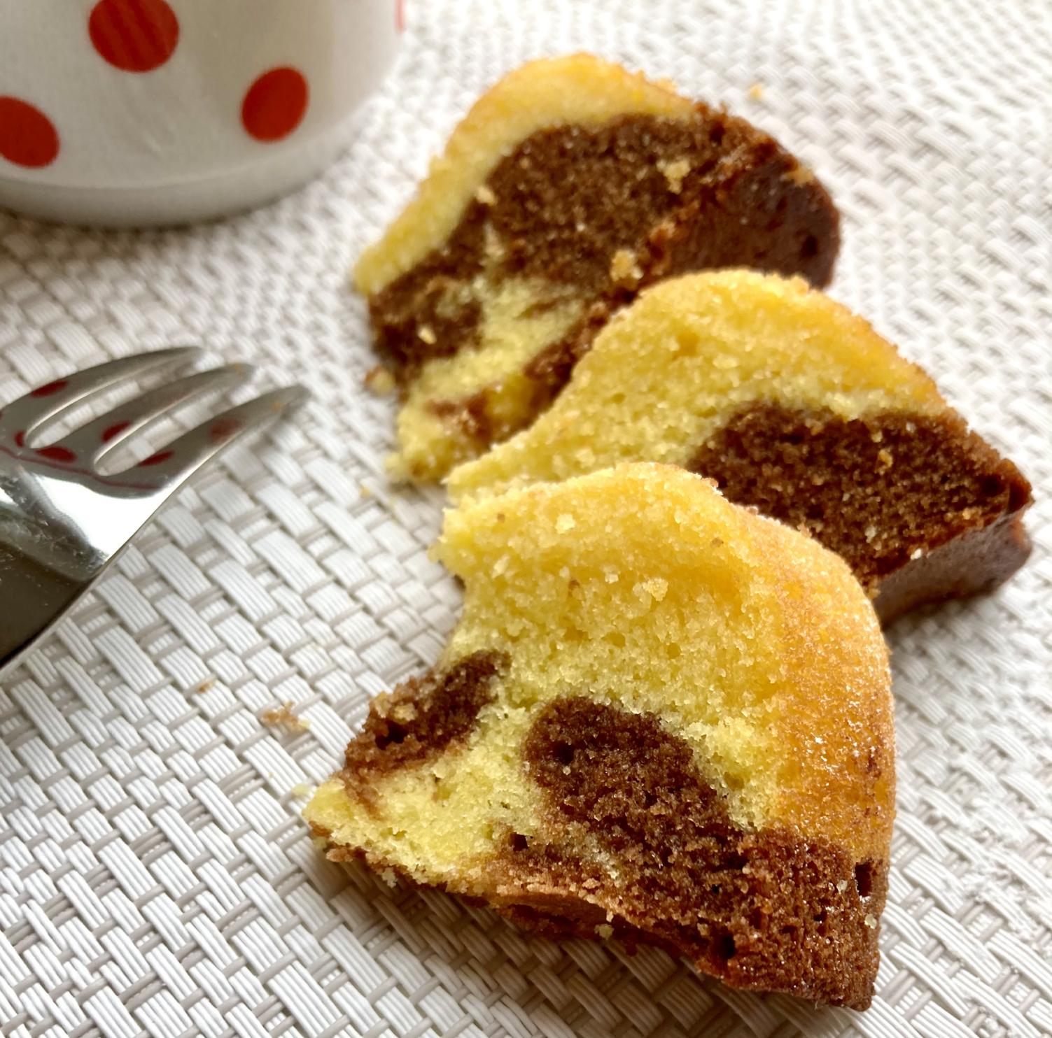 Marmor-Kuchen aufgeschnitten