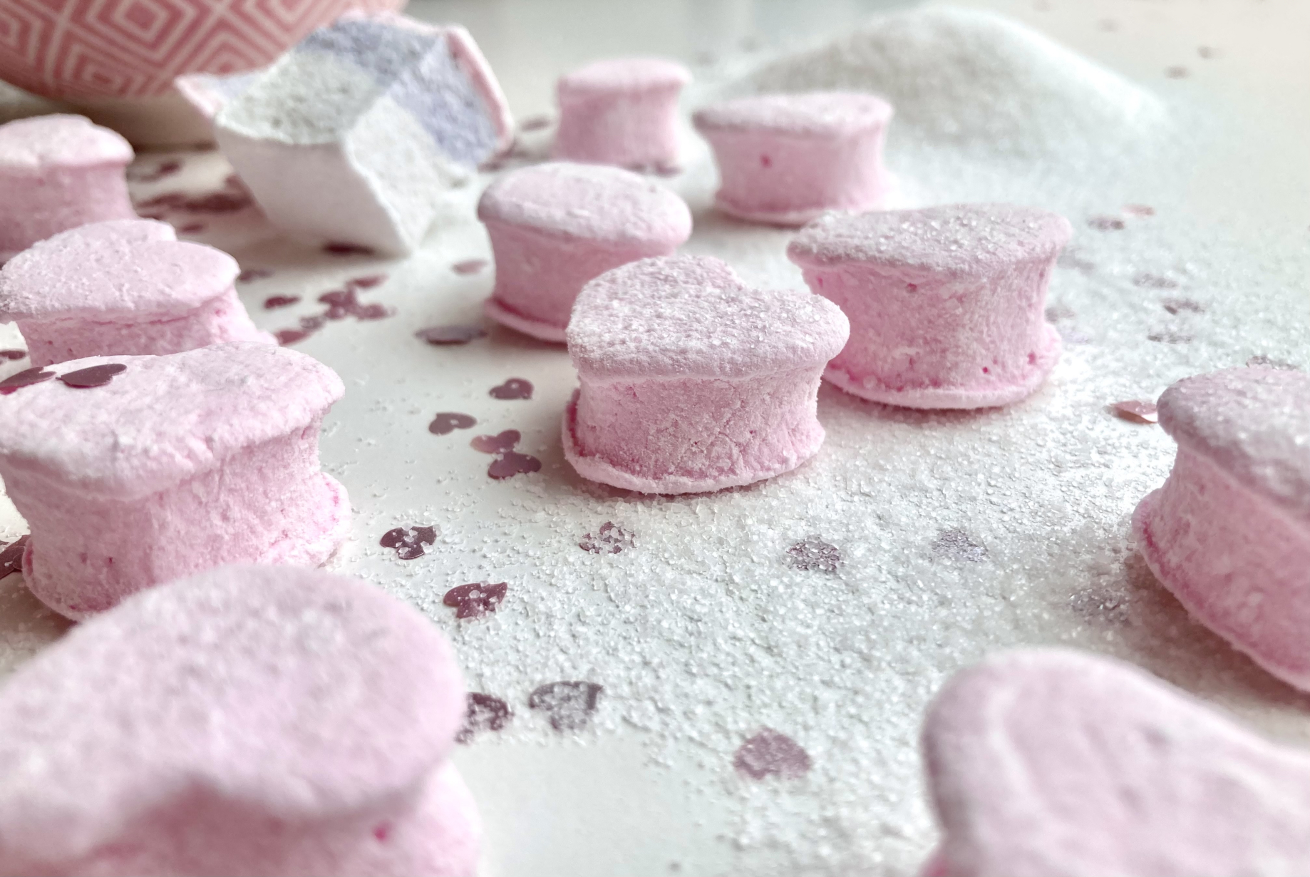 Marshmallows mit Erdbeergeschmack