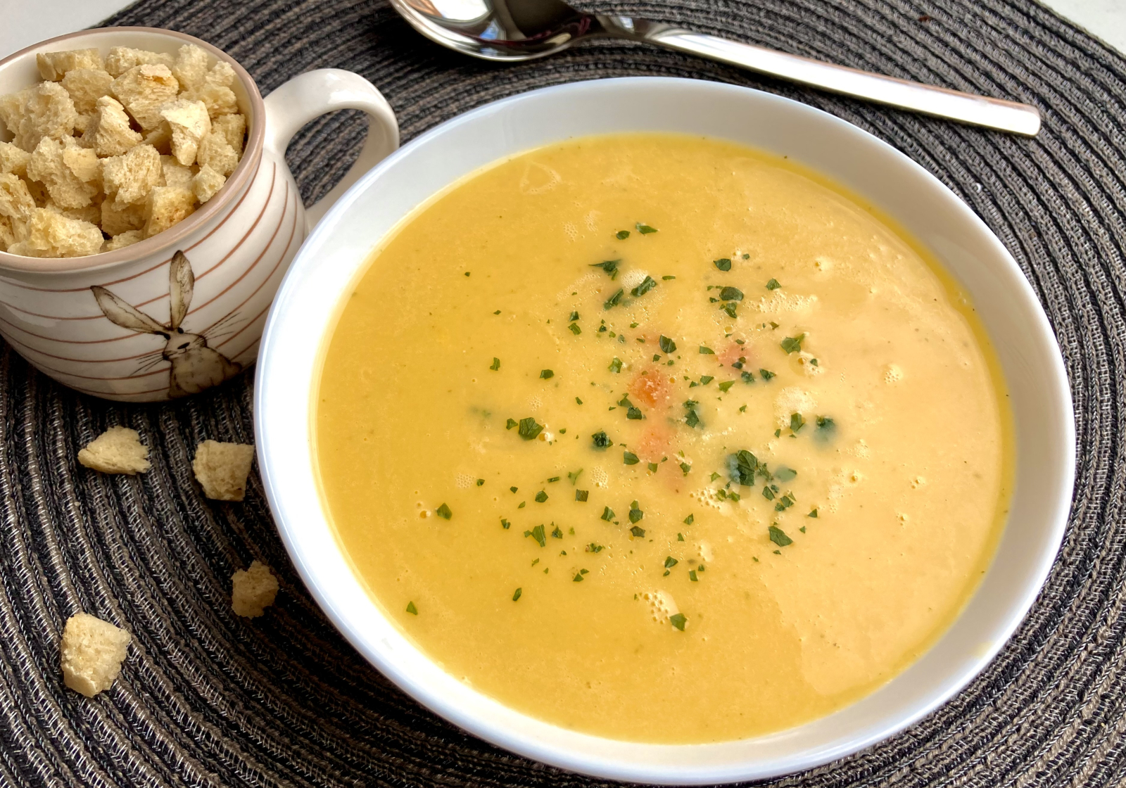Kartoffel Karotten Suppe – schnell und einfach