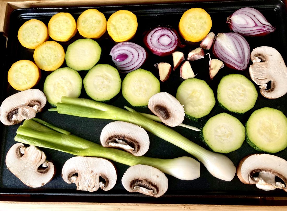 verschiedenes Gemüse am Griller