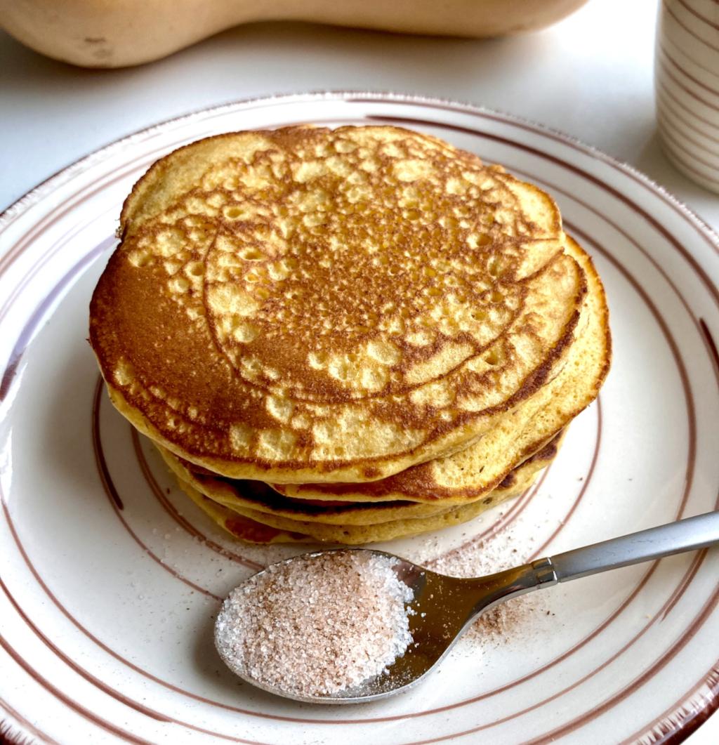 Kürbis Pancakes Nahaufnahme