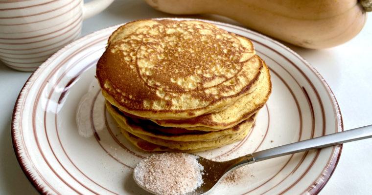 Kürbis Pancakes mit Zimtzucker