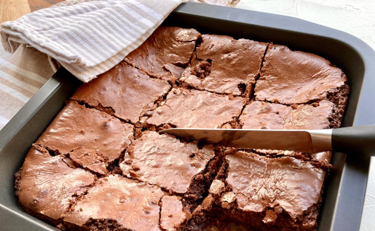 Brownies schneiden